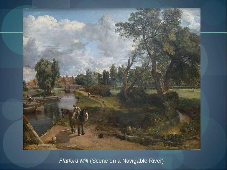 Flatford Mill(Scene on a Navigable River)
