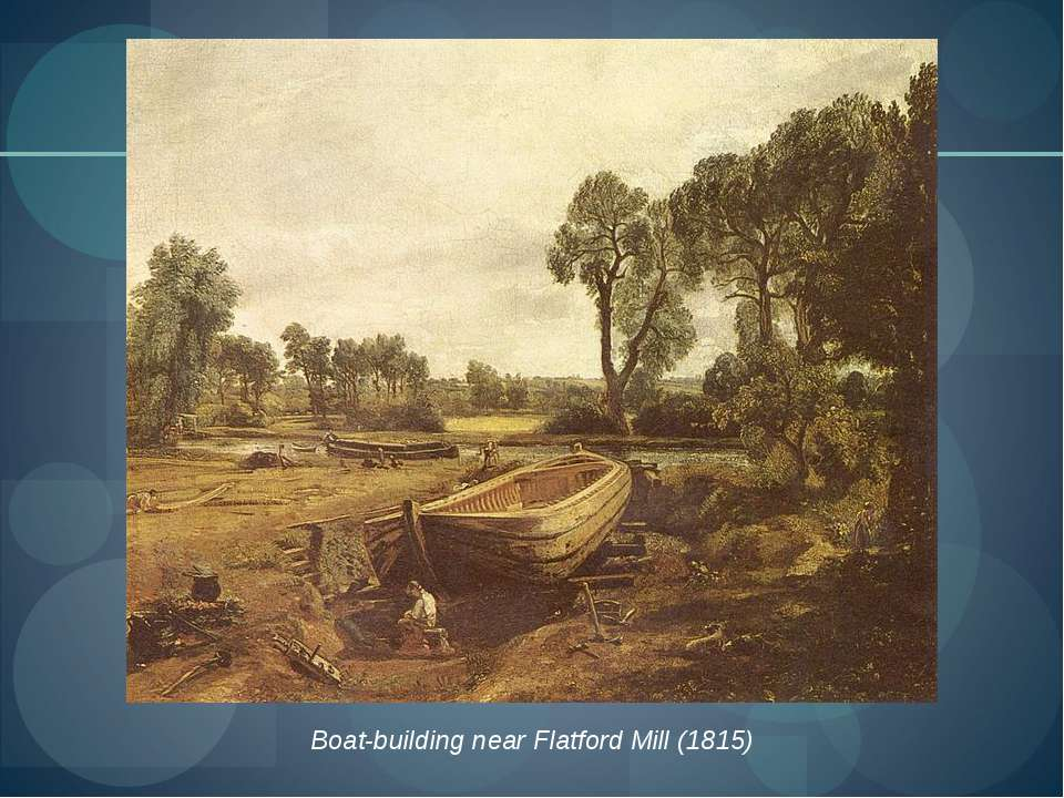 Boat-building near Flatford Mill (1815)