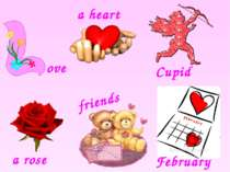Cupid a rose February ove a heart friends