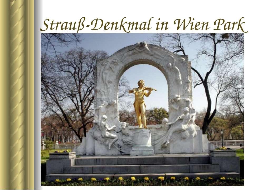 Strauß-Denkmal in Wien Park