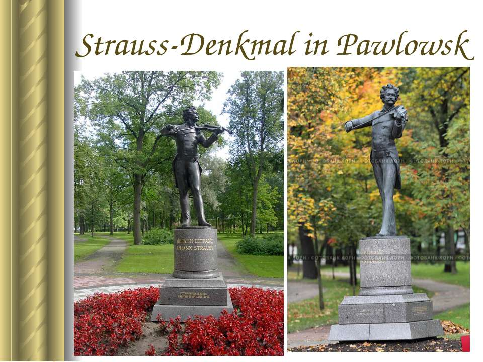 Strauss-Denkmal in Pawlowsk