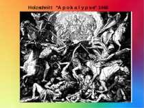 "Holzschnitt ""A p o k a l y p s e"" 1448"