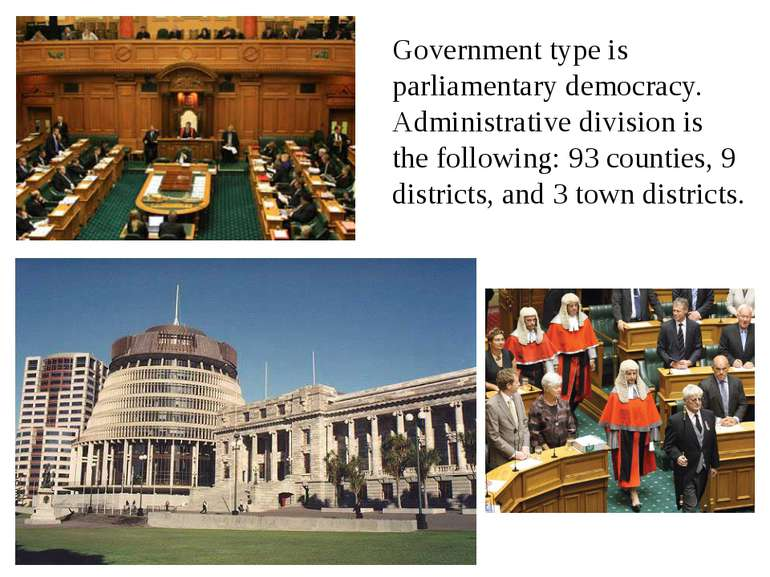 Government type is parliamentary democracy. Administrative division is the fo...