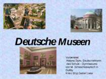 Deutsche Museen Vorbereitet Halyna Dyriv, Deutschlehrerin des Schule - Gymnas...