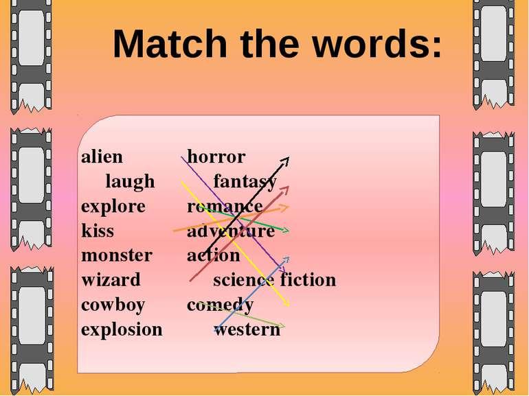 alien horror laugh fantasy explore romance kiss adventure monster action wiza...