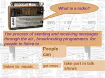 What is a radio? The process of sending and receiving messages through the ai...