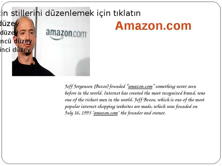 "Amazon.com Jeff Jorgensen (Bezos) founded ""amazon.com"" something never seen b..."