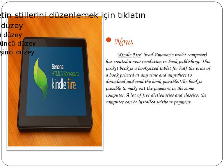"Now, ""Kindle Fire"" (read Amazon's tablet computer) has created a new revoluti..."