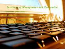 Institute of Management and Economics: Department of Economics Department of ...