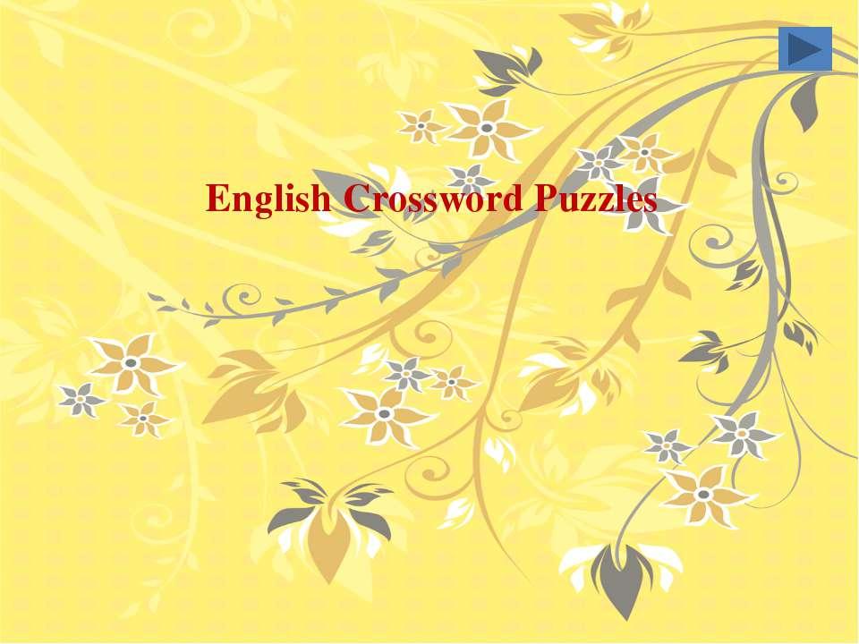 English Crossword Puzzles