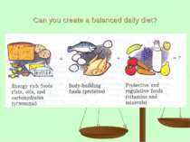 Can you create a balanced daily diet?