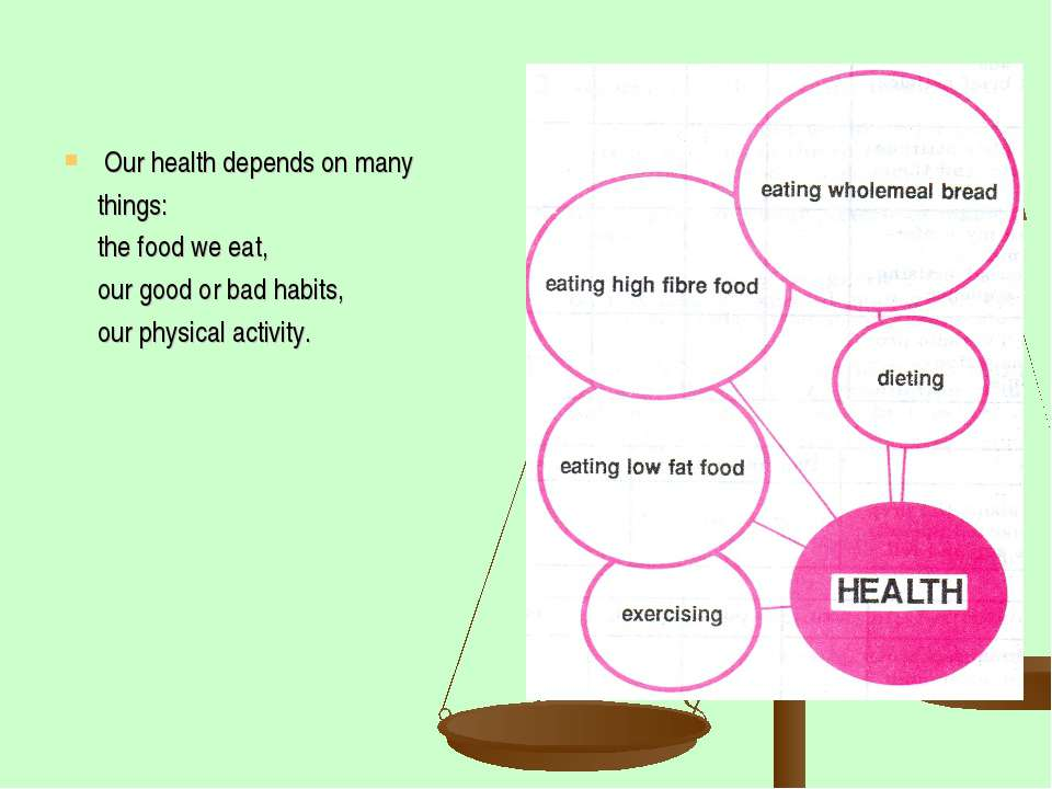 Our health depends on many things: the food we eat, our good or bad habits, o...