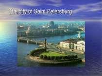 The city of Saint Petersburg