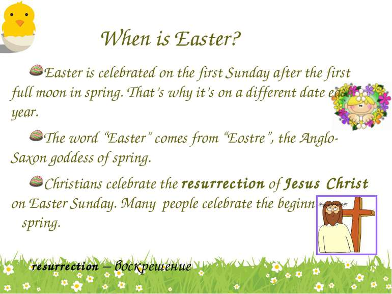 When is Easter? Easter is celebrated on the first Sunday after the first full...