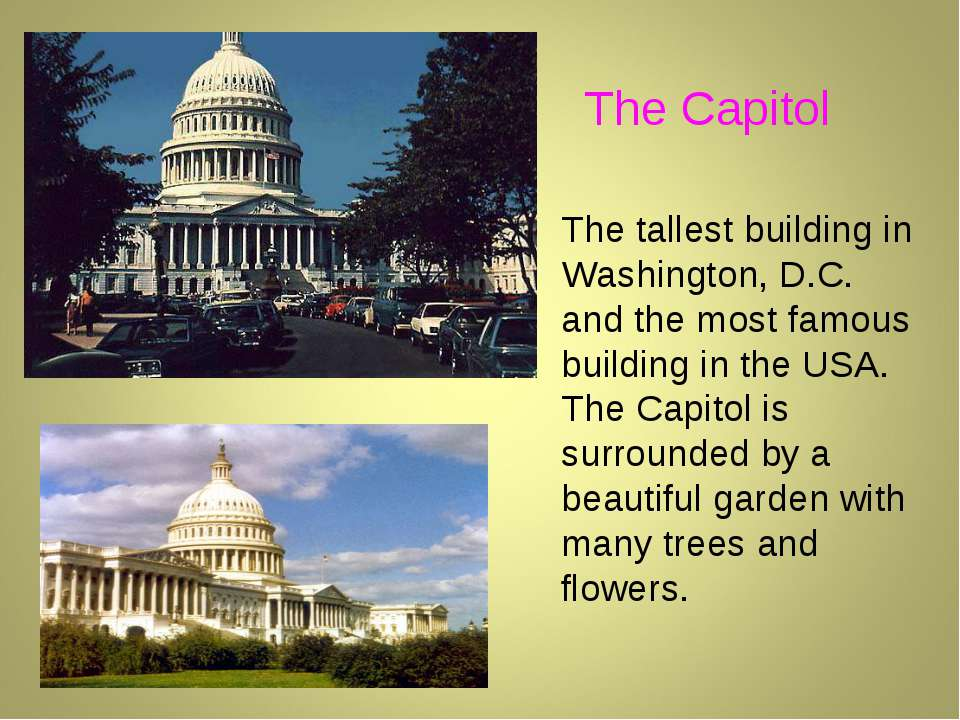 The tallest building in Washington, D.C. and the most famous building in the ...