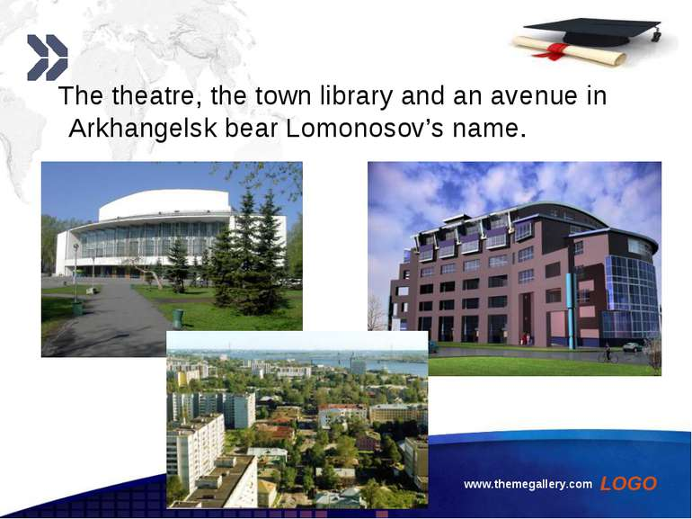 www.themegallery.com The theatre, the town library and an avenue in Arkhangel...