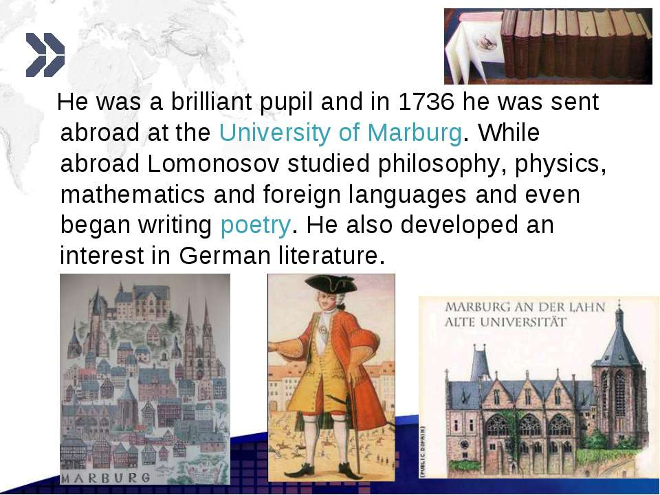 www.themegallery.com He was a brilliant pupil and in 1736 he was sent abroad ...