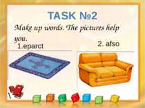 TASK №2 . . Make up words. The pictures help you. 1.eparct 2. afso