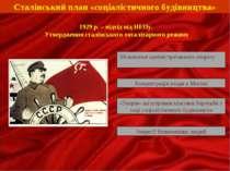 Сталінський план «соціалістичного будівництва» Збільшення адміністративного а...