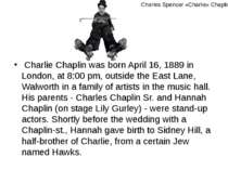 Charlie Chaplin was born April 16, 1889 in London, at 8:00 pm, outside the Ea...