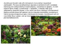 Англійський дизайн саду або пейзажний стиль імітує природний ландшафт. Рослин...