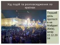 Хід подій та розповсюдження по країнах Перший день протестів на Майдані (Київ...