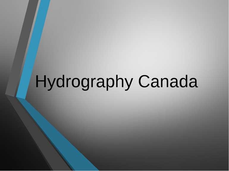 Hydrography Canada