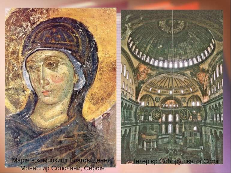 Марія в композиції Благовіщення. Монастир Сопочани, Сербія Інтер'єр Собору св...