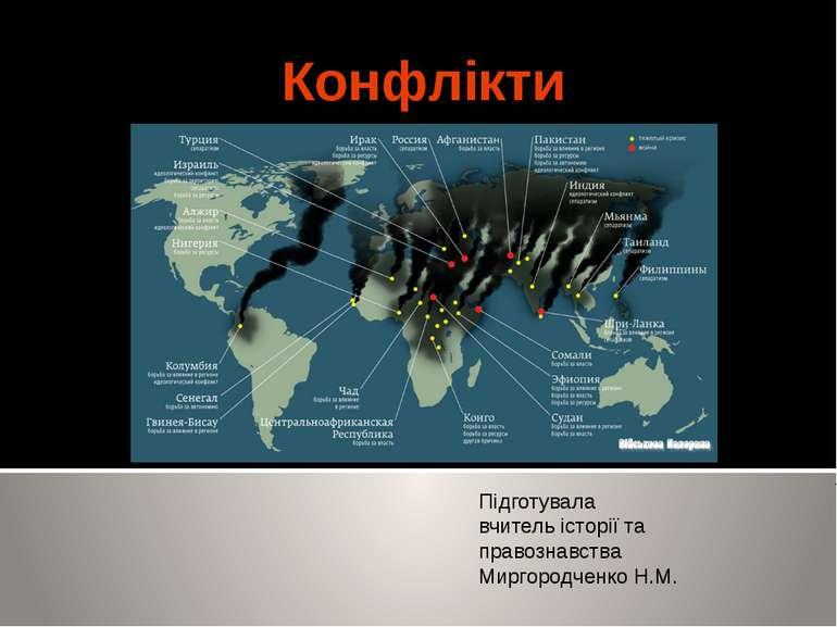 Конфлікти Підготувала вчитель історії та правознавства Миргородченко Н.М.