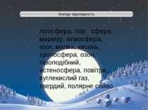 Знайди відповідність літосфера, пар, сфера, мармур, атмосфера, азот, магма, к...