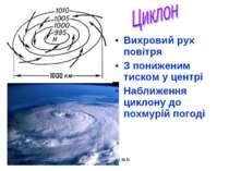 Цимбалюк М.В. Вихровий рух повітря З пониженим тиском у центрі Наближення цик...