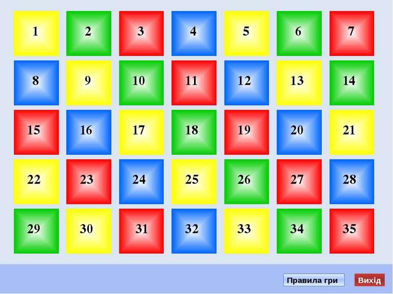 Почати игру 1. Вибери гніздо з номером и клацни по ній мишою. 2. Прочитай зап...