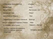 Октавіан Август Найвідоміша поема Вергілія. «Енеїда» Батько Енея. Анхіз Матір...
