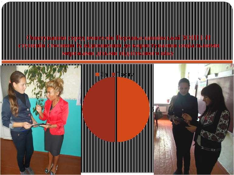 Опитування серед вчителів Верхньоланнівської ЗОШ І-ІІ ступенів стосовно їх ві...