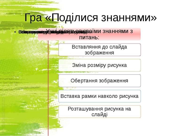 Гра «Поділися знаннями» http://sayt-portfolio.at.ua