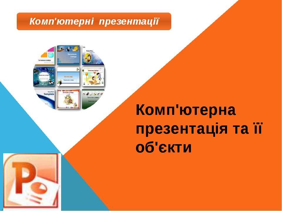 Комп'ютерна презентація та її об'єкти