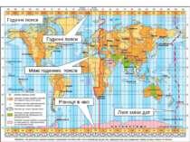 Годинні пояси Лінія зміни дат Різниця в часі Годинні пояси Межі годинних поясів