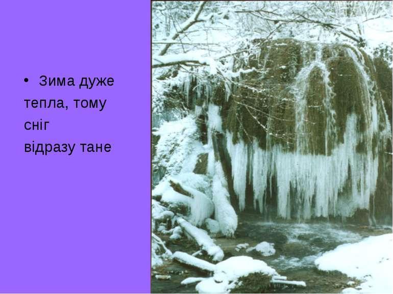 Зима дуже тепла, тому сніг відразу тане