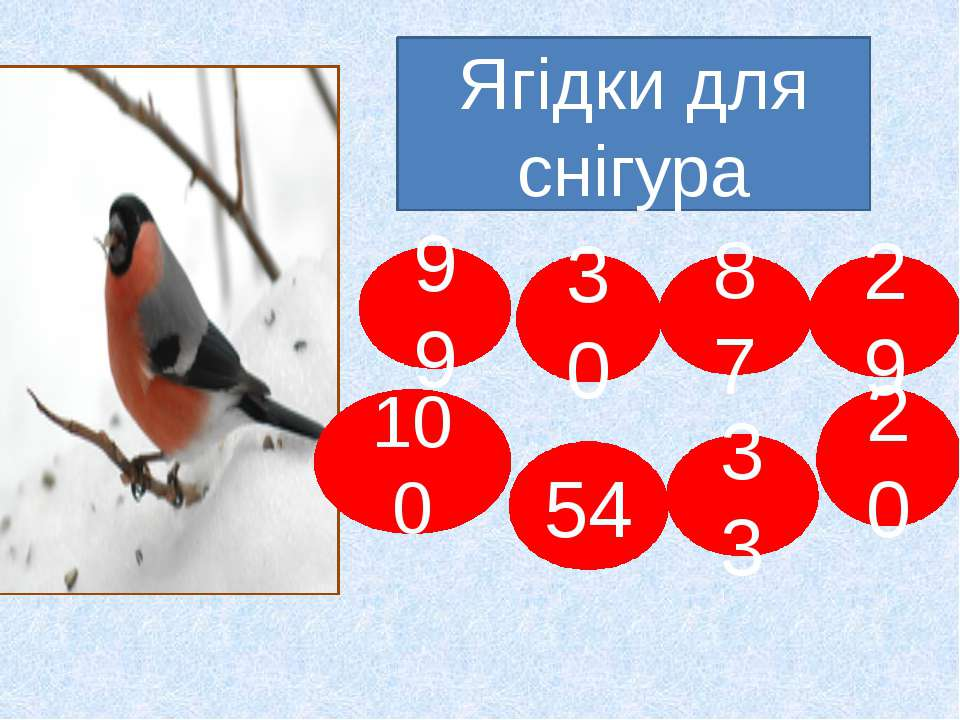 Ягідки для снігура 99 100 54 30 33 87 20 29