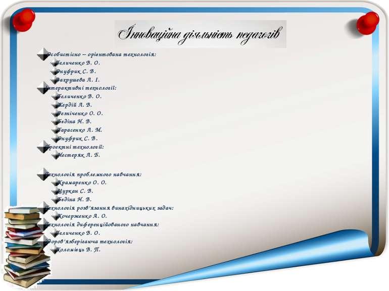 Особистісно – орієнтована технологія: Теличенко В. О. Онуфрик С. В. Вахрушева...