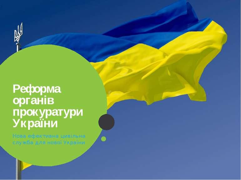 Реформа органів прокуратури України Нова ефективна цивільна служба для нової ...