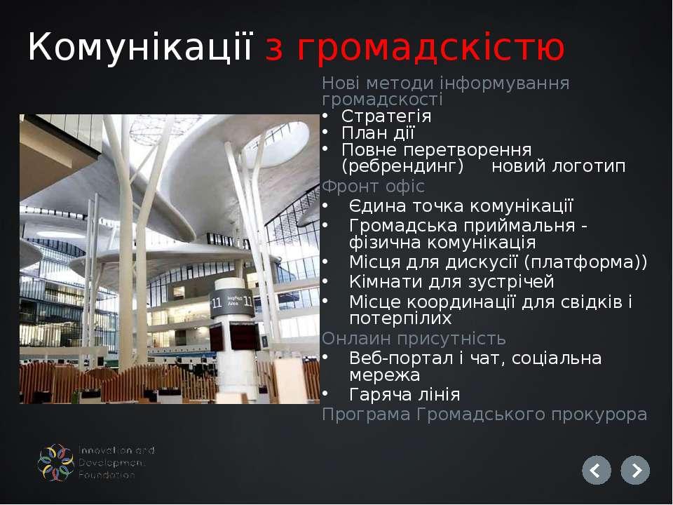 Нові методи інформування громадскості Стратегія План дії Повне перетворення (...