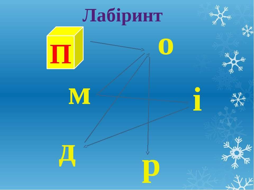 Лабіринт П р о д і м