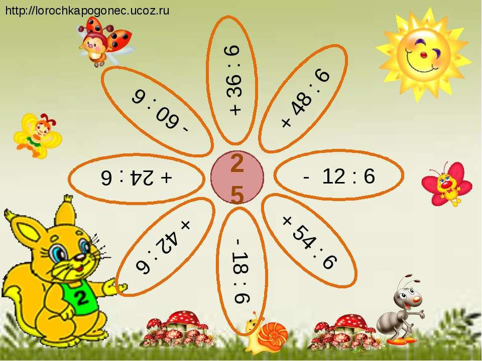 25 + 48 : 6 + 36 : 6 - 12 : 6 - 60 : 6 + 42 : 6 + 54 : 6 + 24 : 6 - 18 : 6 ht...