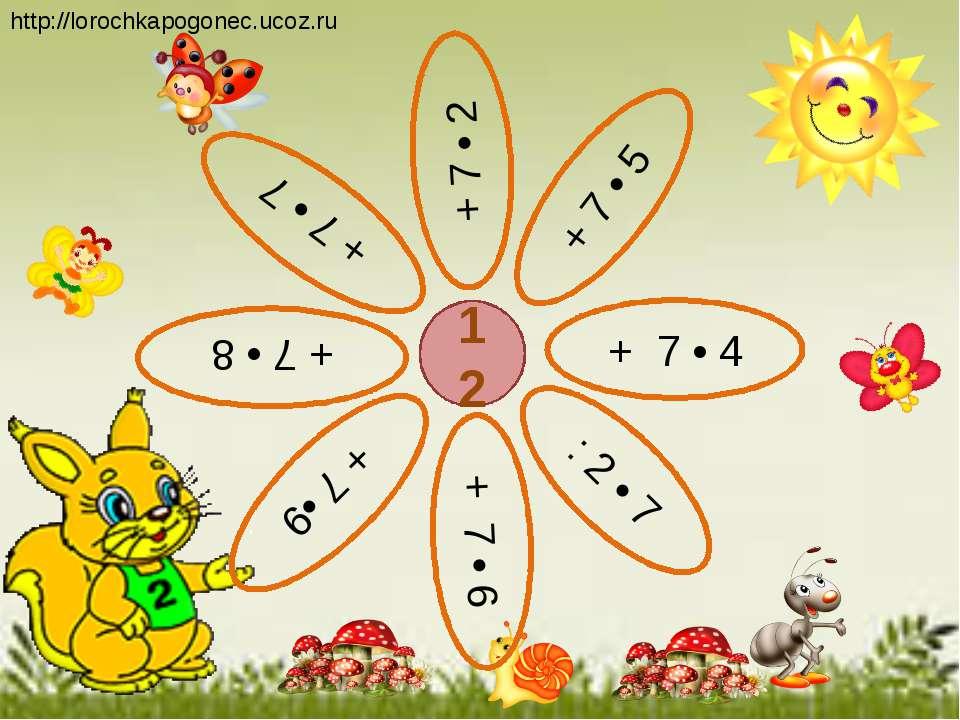12 + 7 • 5 + 7 • 2 + 7 • 4 + 7 • 7 + 7 •9 : 2 • 7 + 7 • 8 + 7 • 6 http://loro...