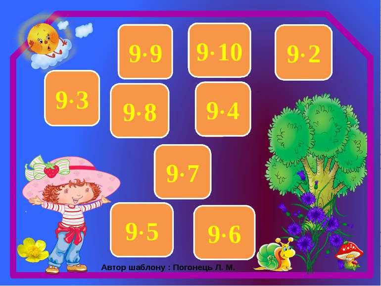 27 9 3 63 9 7 36 9 4 81 9 9 54 9 6 45 9 5 18 9 2 72 9 8 90 9 10 Автор шаблону...