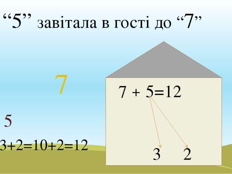 """""""5"""" завітала в гості до """"7"""" 5 5=12 3 2 7 7+3+2=10+2=12 7 +"""