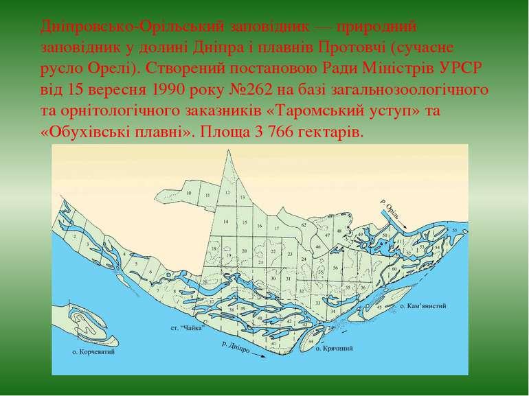 Дніпровсько-Орільський заповідник— природний заповідник у долині Дніпра і пл...