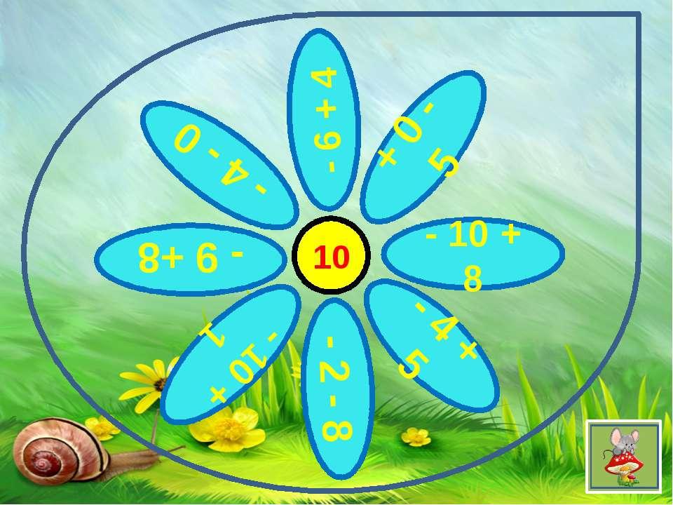 10 + 0 - 5 - 6 + 4 - 10 + 8 - 4 - 0 - 10 + 1 - 4 + 5 - 9 +8 - 2 - 8