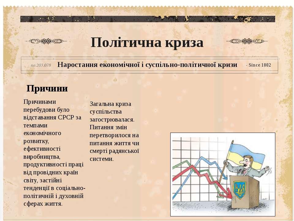 Політична криза Наростання економічної і суспільно-політичної кризи - Since 1...